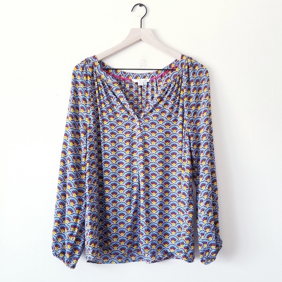 Boden Tops - Boden Printed Peasant Blouse